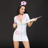 Hot sale Lingerie Sexy Nurse Cosplay sexy Costume pink Nurse Uniforms Role Playing women