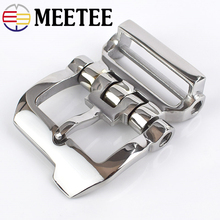 Meetee 4cm Stainless Steel Belt Buckles Leisure Business Allgery-free Pin Buckle Waistband LeatherCraft DIY Jeans Decor Accessor
