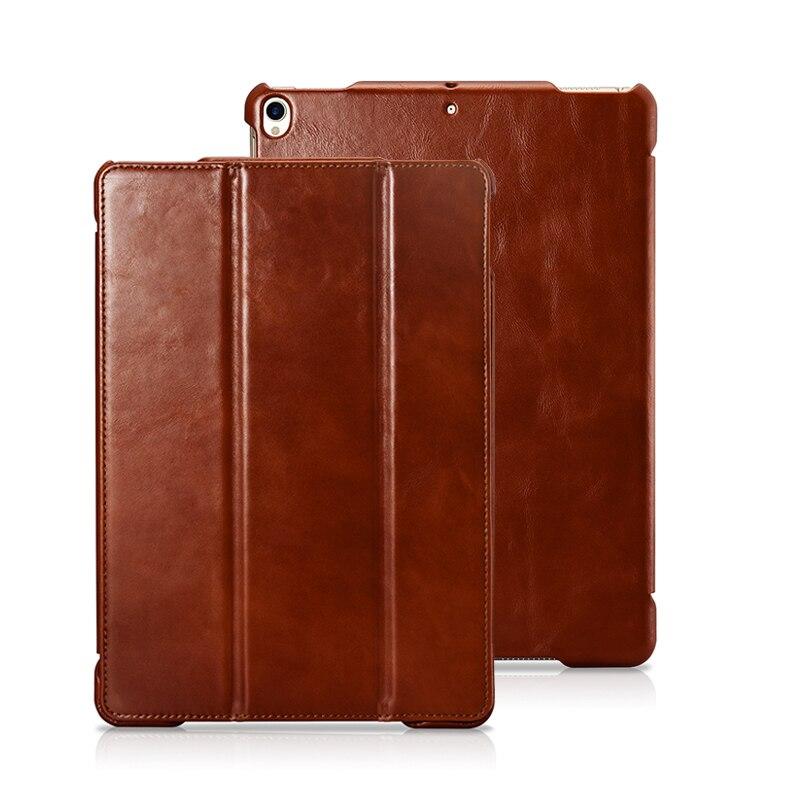 Véritable En Cuir Smart Cover pour iPad Pro 10.5 2017 Cas En Cuir De Luxe Coque Tablet Cas pour iPad 10.5 pouce Couverture capa