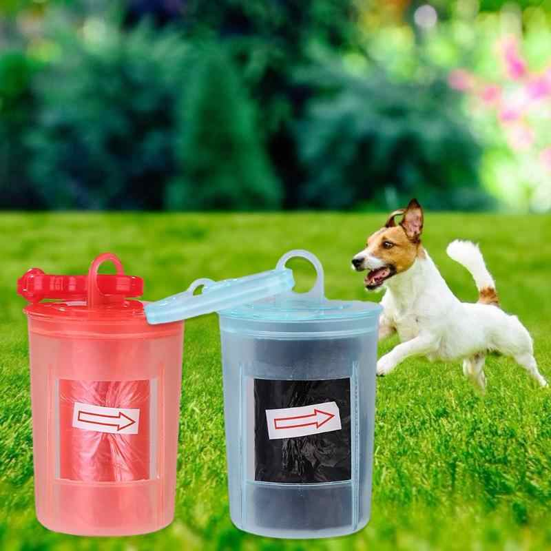 Saco de Cocô de cachorro Filhote de Cachorro Pet Dispensador De Resíduos de Lixo Ao Ar Livre Caixa de Armazenamento de Limpeza produtos Para Animais de Estimação