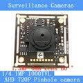 "1MP AHD mini pinhole camera CCTV 1280*720P mini night vision Camera Module 1/4 ""HD 1.3MP 6mm lens 60 degrees surveillance camera"