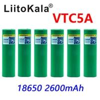6PCS ORIGINAL 3.7V 2600mAh VTC5A rechargeable Li ion battery 18650 Akku US18650VTC5A 35A Toys flashlight