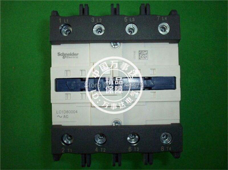 ФОТО TeSys D Contactor 4P 125A LC1D80004 LC1D80004B7  LC1-D80004B7 24V AC