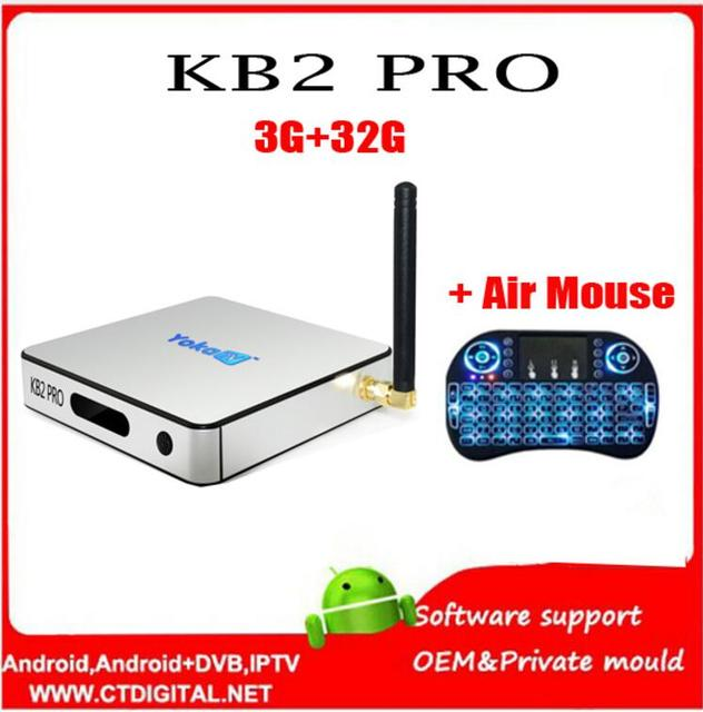 Yokatv KB2 PRO 3 GB + 32 GB Android 6.0 TV Box Amlogic S912 Octa core Android Caja de Tv Dual WiFi smart tv caja