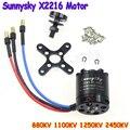 Бесплатная доставка!! SUNNYSKY X2216 KV880 KV1250 KV2450 KV1100 Походный Безщеточный Для Нескольких ротора Quadcopter 3D Самолет