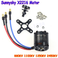 free shipping!! SUNNYSKY X2216 KV880 KV1100 KV1250 KV2450 Outrunner Brushless Motor For Multi-rotor Quadcopter 3D Airplane