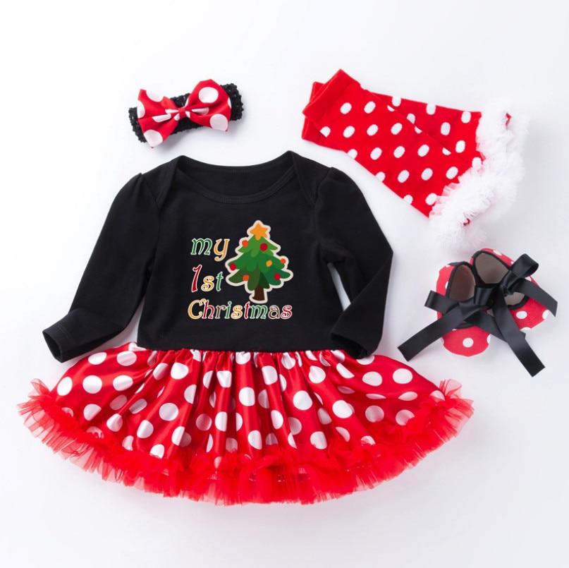 plissado tutu vestidos 4 peça conjuntos de roupas infantis presentes