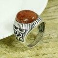 Envío gratis plata tibetana Vintage anillos de piedra naturales venta al por mayor caliente tamaño 8-11 Classico Pallisandro anillos hombres