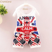 Children Clothing Toddler Kids Baby Boys Stars Stripes Shirt Tops+Shorts Pants Outfit Clothes Set oct Girls Clothes