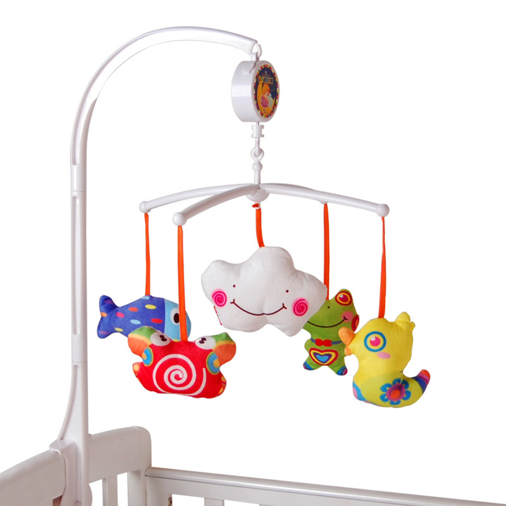 Crib music box for babies - Baby Rattles Baby Crib Mobile Bed Bell Toy Holder Arm Bracket 5 Dolls Wind Up Music Box