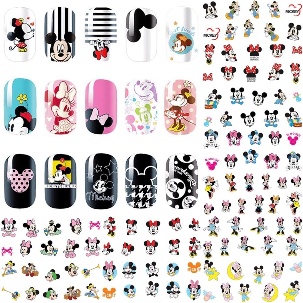 12 Sheets Hello Kitty Nail Art Decorations Sticker Water Decals Nails Sticker Art Transfer Foil Manicure Tools Cartoon Design