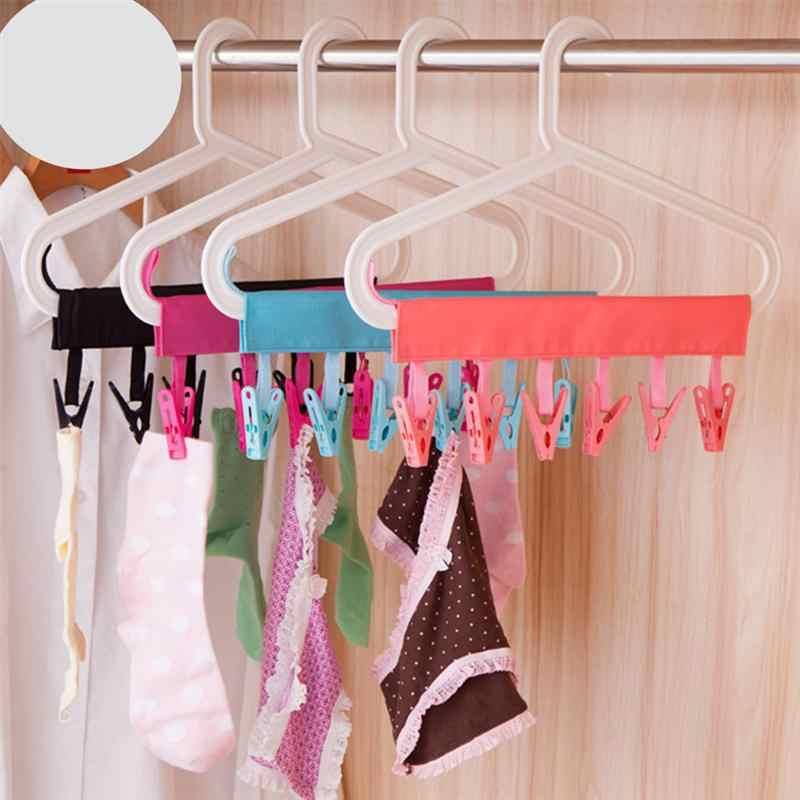 OUNONA 1pc Folding Droogrek Draagbare Kleerhanger voor Badkamer Handdoek Reizen Sokken (Willekeurige Kleur)