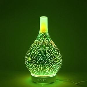 Image 5 - 3D Firework Glass แจกัน Shape Air Humidifier 7 สี LED Night Light น้ำมันหอมระเหยกลิ่น AROMA Mist อัลตราโซนิค hu
