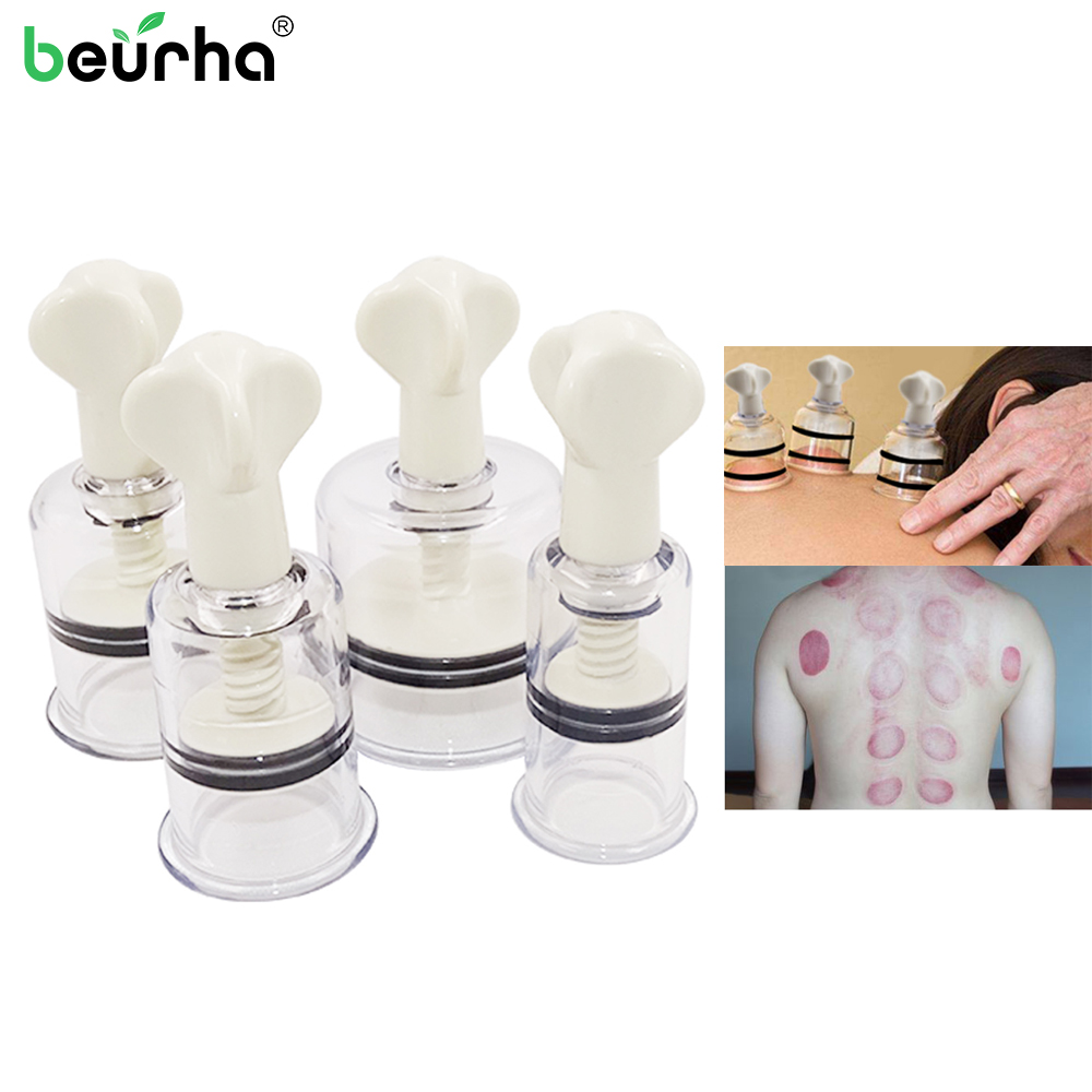 4 Sizes Suction Massage Cupping Body Massager Vacuum Therapy Cups Rotating Handle Anti-cellulite Vacuum Nipple Enlarger Dropship