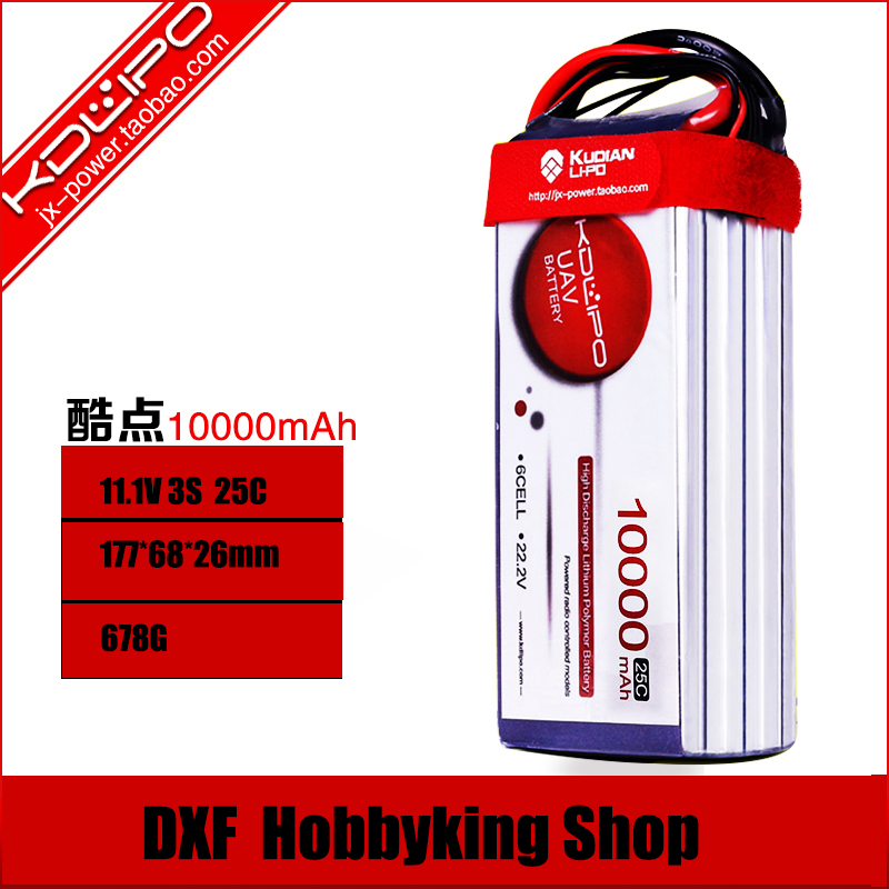 2017 DXF  Lipo Battery Kudian 3s 11.1V 10000MAH 25C-50C RC AKKU Bateria for Airplane Helicopter Boat FPV Drone UAV Free ship управление доу организационно информационный аспект