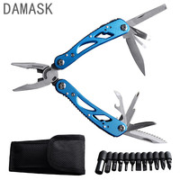 EDC Outdoor Survival Folding Plier Multifunctional Tactical Pocket Plier Stainless Steel Knife Screwdriver Bits Multitools