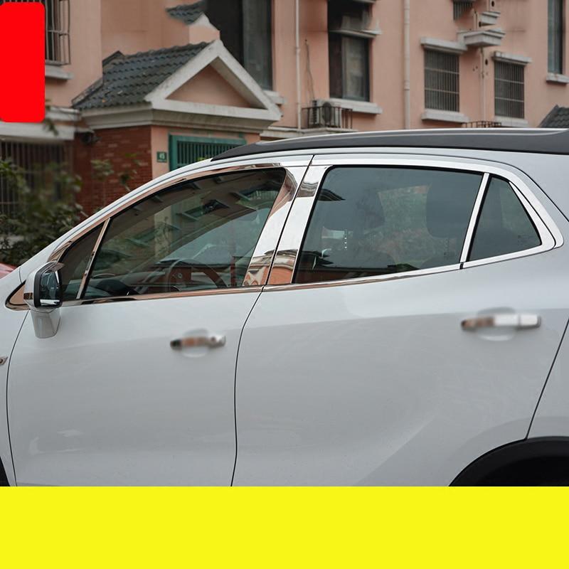 lsrtw2017 304 stainless steel car window trims for Opel Mokka Buick Encore Bitter Mokka 2013 2014 2015 2016 2017 2018 Vauxhall lsrtw2017 304 stainless steel car window trims for opel mokka buick encore bitter mokka 2013 2014 2015 2016 2017 2018 vauxhall