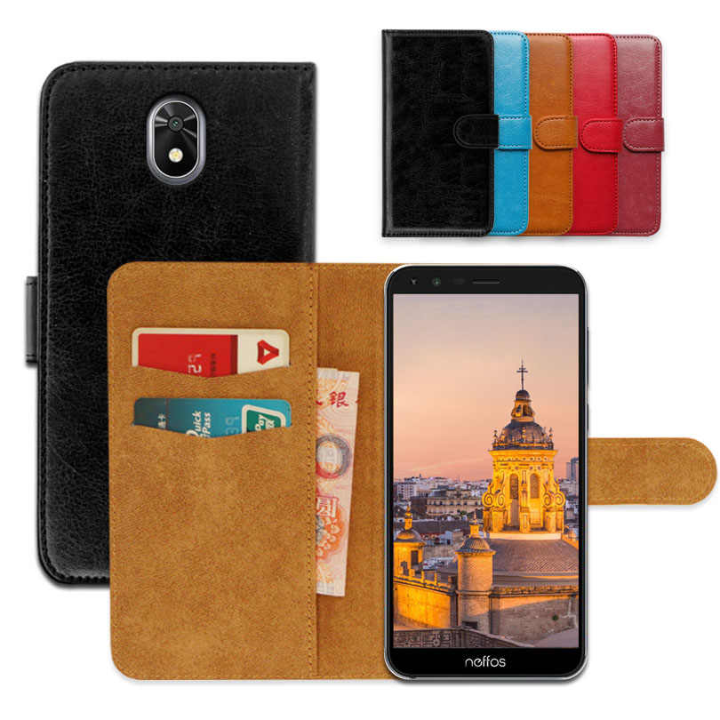 Luxury wallet case for TP-Link Neffos C5 Plus PU Leather Special Flip Case With Card Pocket Phone Cover,Kickstand case