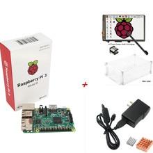 Raspberry Pi 3 Modelo B Junta + 3.5 TFT LCD HDMI de la Pantalla Táctil Display + 5 V 2.5A fuente de Alimentación (EE. UU. O de LA UE) + $ number Disipadores de Calor + Clear Case Kit
