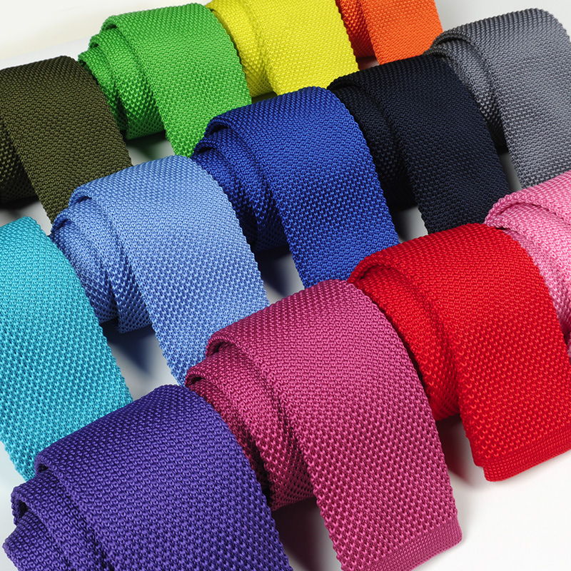 28 Colors 6cm Men's Fashion Flat Head Narrow Neck Tie Knit Tie Neckcloth Neckwear Neckties Formal Gravata Gifts For Men Wedding