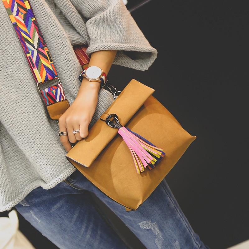 ... Scrub Leather Design Crossbody Bag Girls With Tassel Colorful Strap  Shoulder Bag Female Small Flap Handbag. 46% Off. 🔍 Previous. Next be91f5ed8bea1