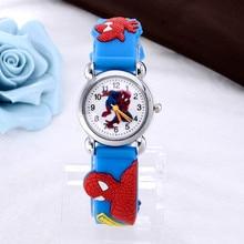 Children Cartoon Watches New Spider Man Fashion Watch Wristwatch Kids Watch Children Watches Blue relojes montre saat relogioes