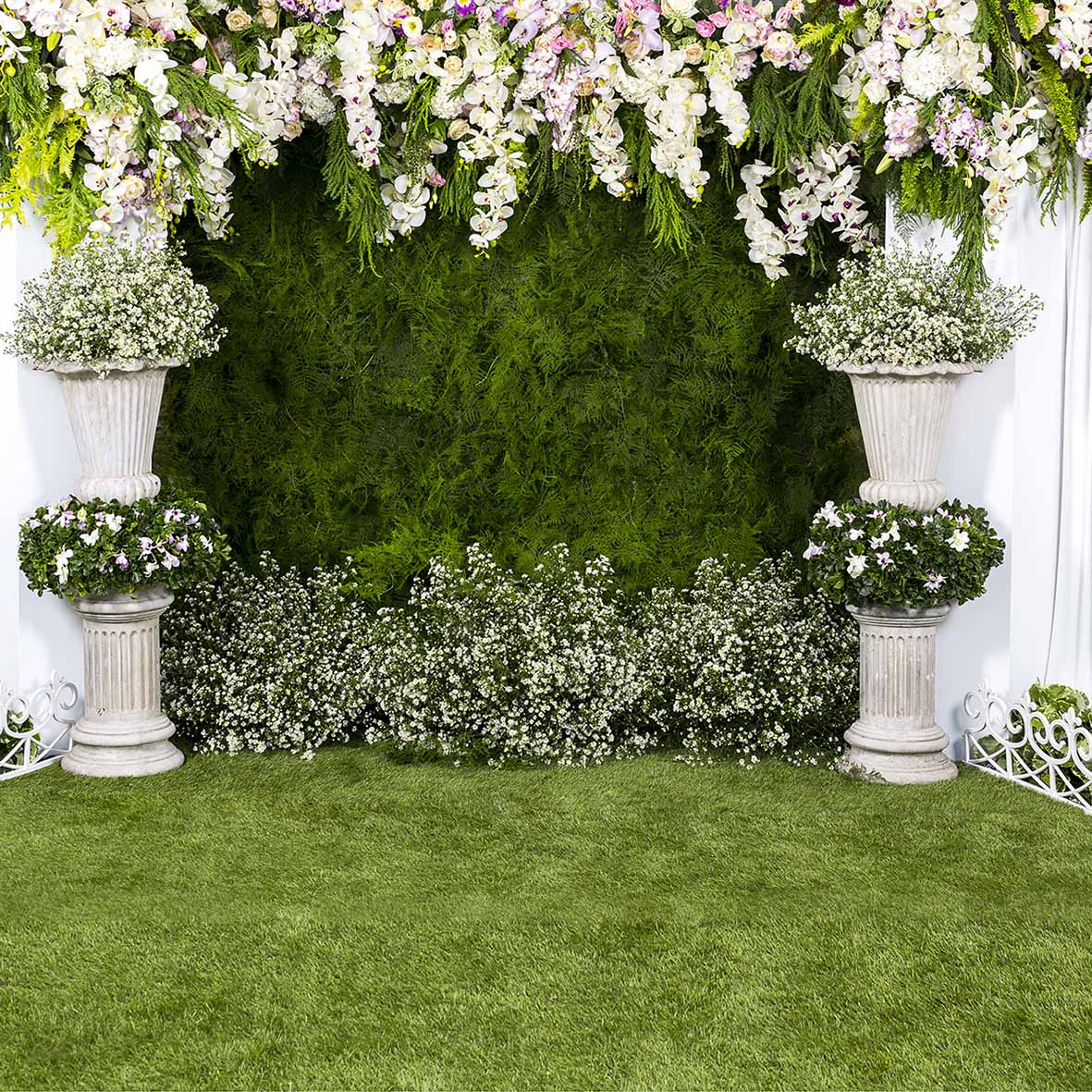 US $8 89 36% OFF|Allenjoy Wedding photography backdrop garden flower spring  green grass background photo studio photocall photophone party decor-in