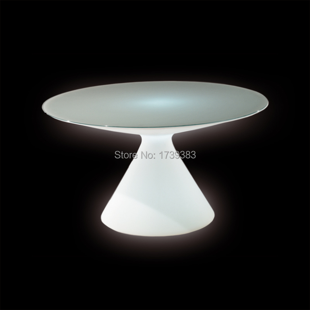 European and American style coffee table outdoor LED Bubble light plastic coffee station/PartyHotel creative small coffee table