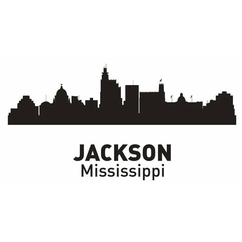 Dctal Джексон город этикета ориентир Skyline Наклейки на стену эскиз плакат Parede Домашний Декор Стикеры