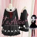 Diseño único japonés lindo bola de arroz de la muchacha delicioso negro manga larga JK Collar del vestido de marinero invierno Lolita vestido buena de Qaulity