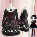 Unique Design Japanese Cute Rice Ball Girl Yummy Black Long Sleeves JK Dress Sailor Collar Winter Lolita Dress Good Qaulity
