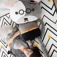 Fancytrader Grande Creativo Divertente Dormire Cuscino Bambola Morbido Lungo Animali Fox Bear Cat Giocattoli 150 cm Regali Piacevoli