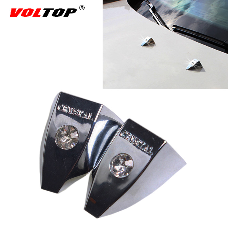 2pcs Universal Car Diamond Wiper Decorative Cover Noble Drill Stickers Auto Exterior Rhinestone Fashion Noble Decoration Sticker-in Car Stickers from Automobiles & Motorcycles