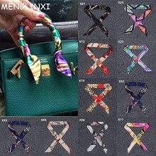 2019 New Arrivals Bag Scarf Print Silk Women Small Ribbon Fashion Female Hair Ribbons Handbag Skinny Scarves