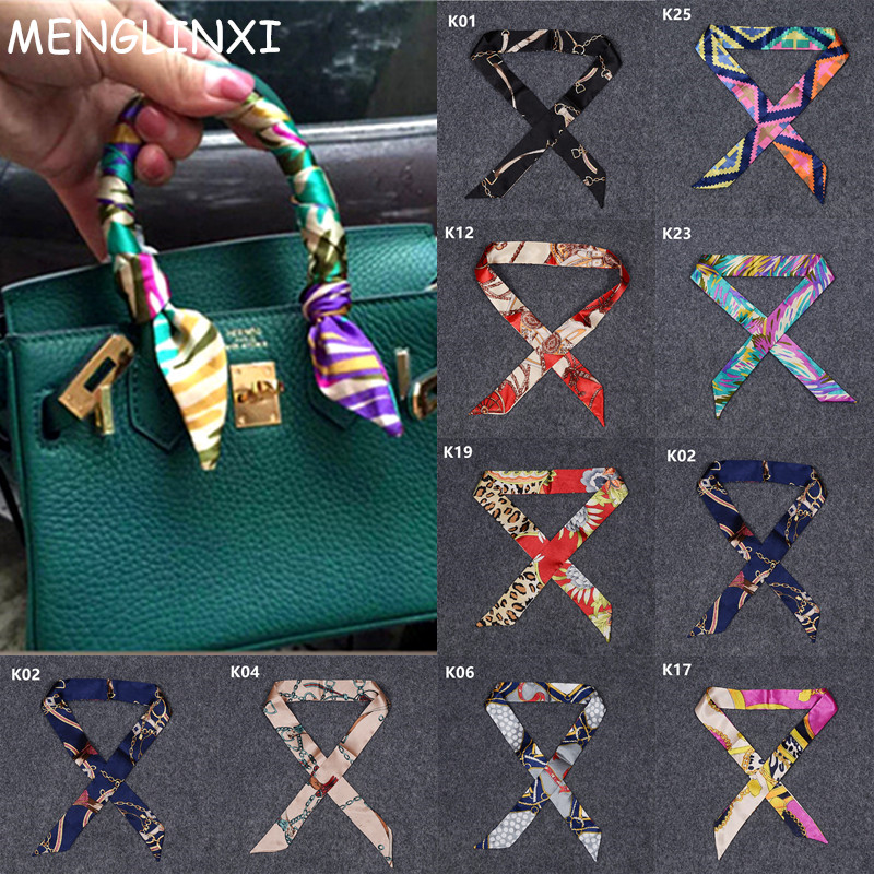 2020 New Arrivals Bag Scarf Print Silk Scarf Women Small Bag Ribbon Fashion Female Hair Ribbons Fashion Handbag Skinny Scarves