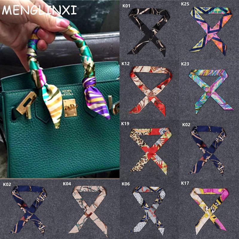 2020 New Arrivals Bag Scarf Print Silk Scarf Women Small Bag Ribbon Fashion Female Hair Ribbons Fashion Handbag Skinny Scarves