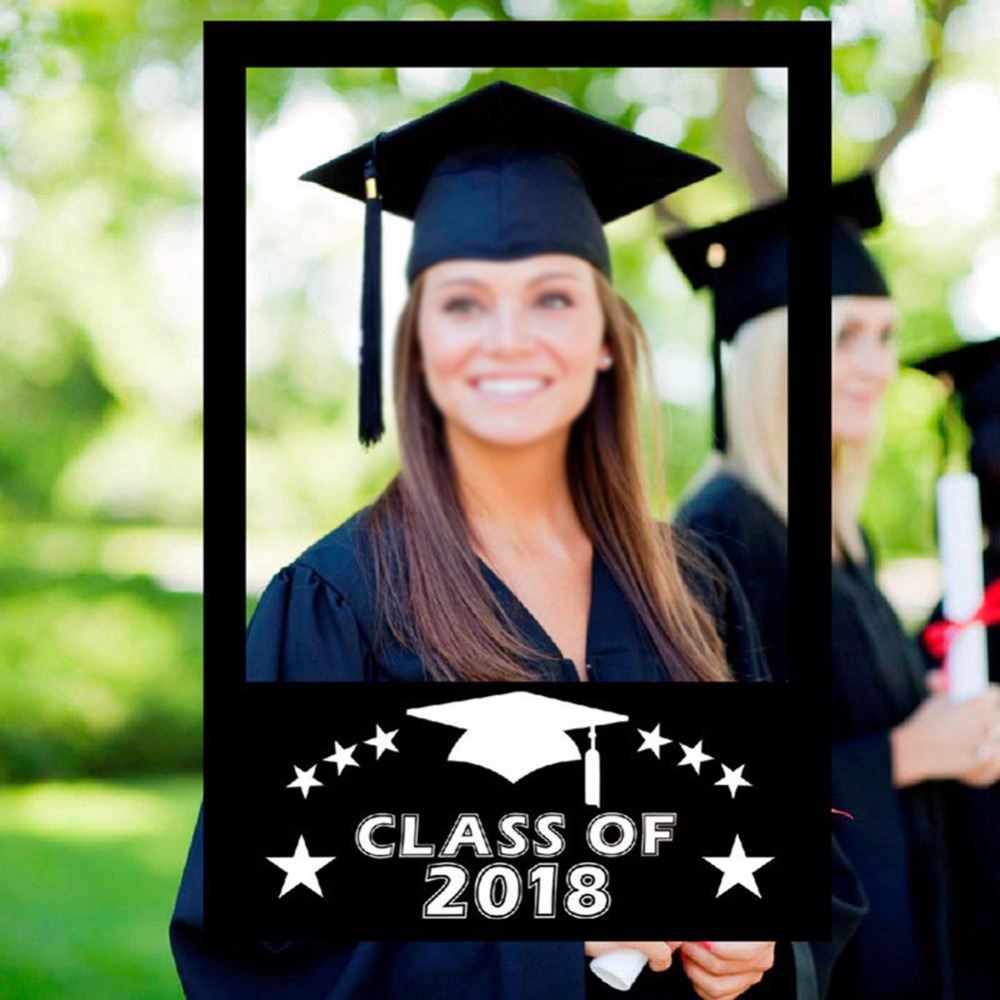 Creative Class Of 2018 Paper Picture Frame DIY For Graduation Event Cutouts Photo Booth Props Party Decoration 1Pc-in Frame from Home & Garden on ...
