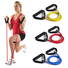 цена Pull Rope Resistance Bands Fitness Workout Exercise Tubes for Gym Home Yoga Pilates Tensile Expander Trainer Elastic Band Sport онлайн в 2017 году