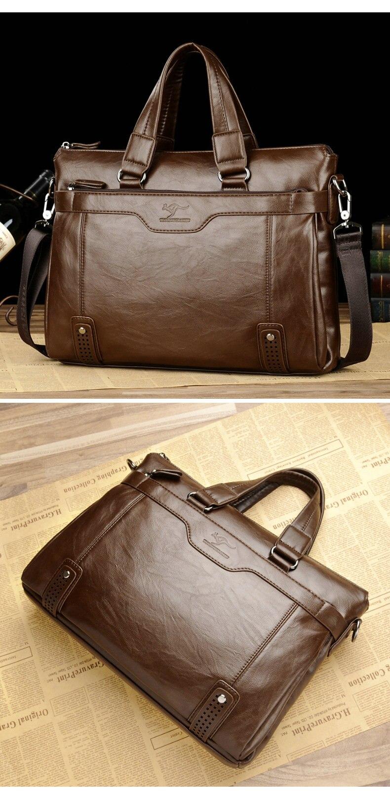 HTB10FFAek5E3KVjSZFCq6zuzXXaV Cowhide Leather men's Briefcase men laptop male messenger bag Men's shoulder bags briefcases for documents bag