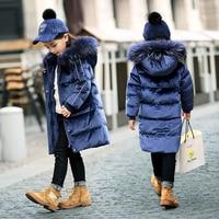OLEKID Down Jacket For Girl 5 14 Years Kids Thicken Warm Children Girl Winter Coat Winterjas Meisjes Kurtka Zimowa Dziewczynka