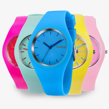 2017 Colorful Ultra-thin Fashion Silicone Strap casual Ladies Watch Geneva Sport Wristwatch Women Jelly Watches Relogio Feminino