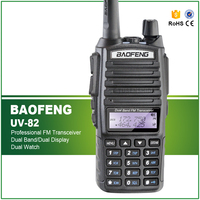 100 Brand New Original Dual Band Baofeng UV 82 Amateur Radio Transceiver With Double PTT Headset