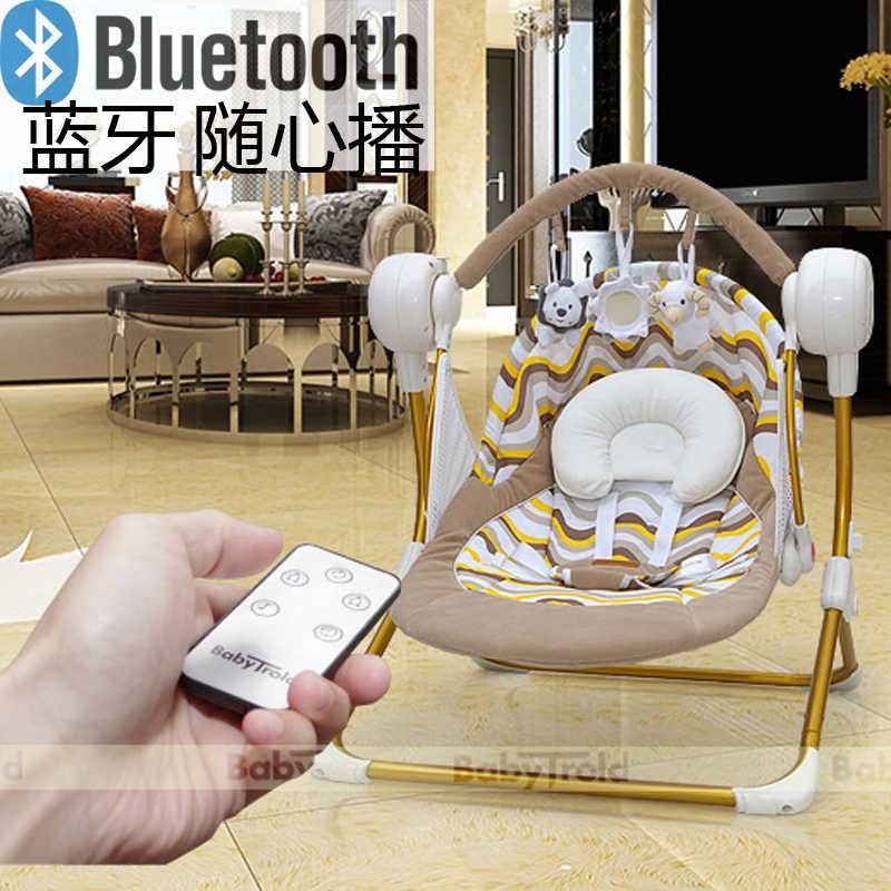 Benken MUCHUAN электрические детские качели музыкальное кресло-качалка Автоматическая Колыбель детская спальная корзина placarders шезлонг