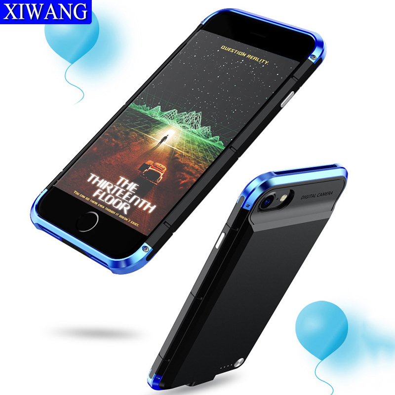 5000mah Phone Charger battery wireless Portable Charging bumper protector phone cover for iphone 8 7 6 6s plus case Powerbank