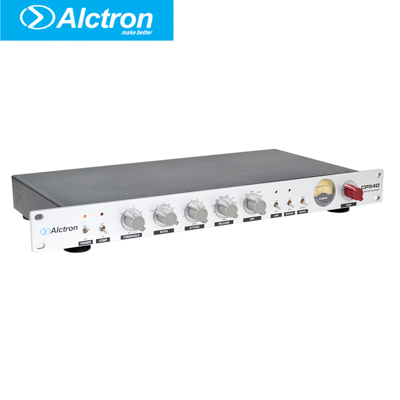 Alctron CP540 Professional One Channel Microphone Preamplifier Compressor/Limiter, Studio Compressor, Pro Mic Pre Compressor alctron pf8 professional simple studio mic screen acoustic filter new arrive desktop recording wind screen