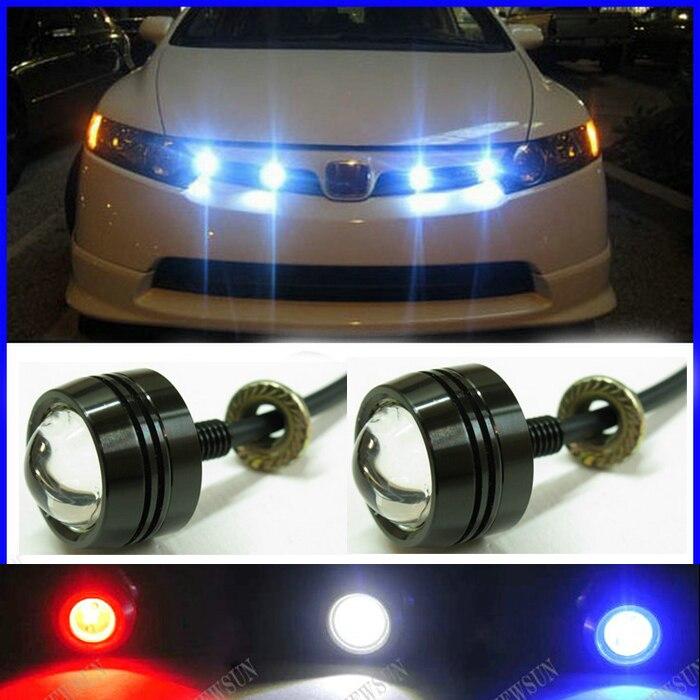 Super Mince Voiture LED Brouillard N ° Lumière, Date LED Eagle Eye White Light Diurnes Tail Lumière De Secours De Voiture moteur