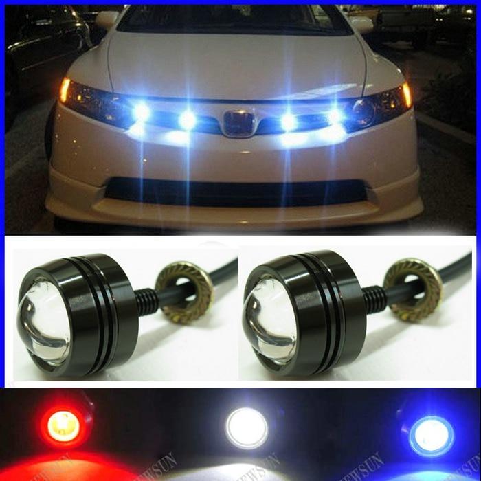 Купить со скидкой Super Thin Car LED Fog Reverse Light,Newest LED Eagle Eye White Light Daytime Running Tail Backup Li