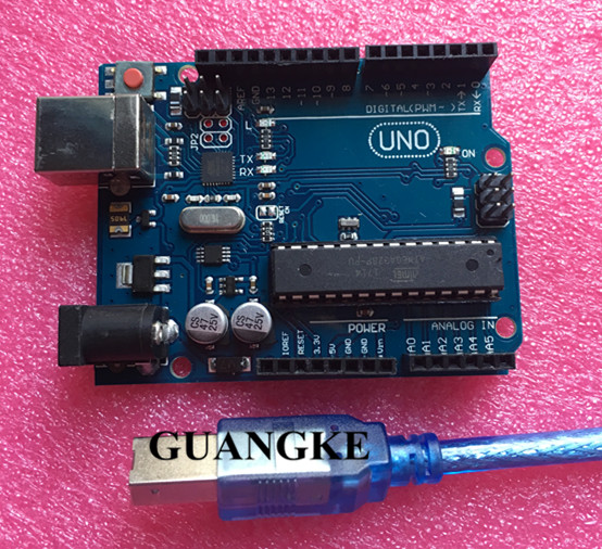 10 set x development Board Compatible wth UNO R3 MEGA328P ATMEGA16U2 + USB Cable