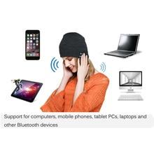 New Fashion Beanie Hat Cap Wireless Bluetooth Earphone Smart Headset headphone Speaker Mic Winter Outdoor Sport Stereo Music Hat