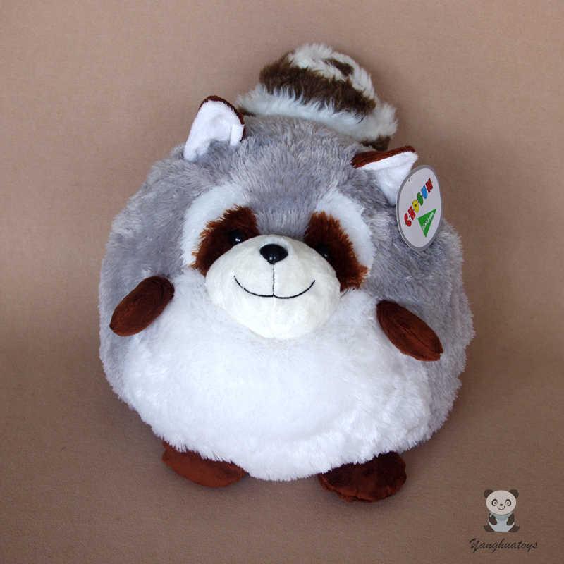 Прекрасный мяч енот плюшевый игрушки куклы большая подушка Для женщин день рождения и подарок на праздник супер мягкий
